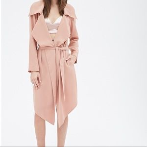 Forever 21 dusty pink trench coat